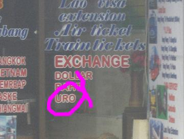 Mispelled Signs in Vang Vieng, Very Common.