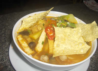 Vegetarian Soup in Saigon