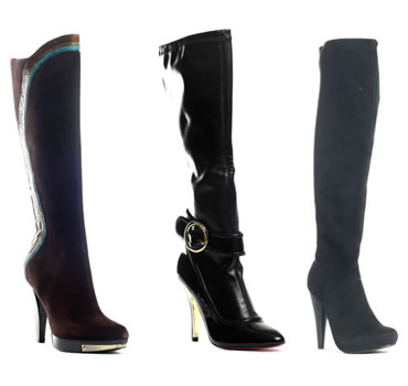 Fall Season 2009 Knee Boots Runway Shoes
