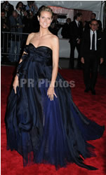 Heidi Klum on Blue Gown