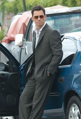 Establish Man with His Car