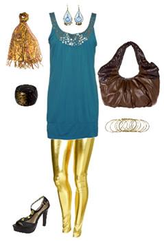 Metallic Fashion Leggings, Wet look leggings, Liquid Leggings