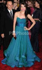 Thalia on BlueGreen Gown