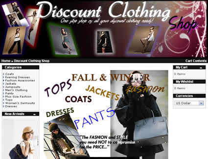 discount clothing shop