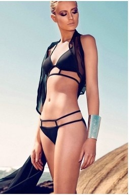 Hot Black Sexy Strappy Bikini SwimwearBlack