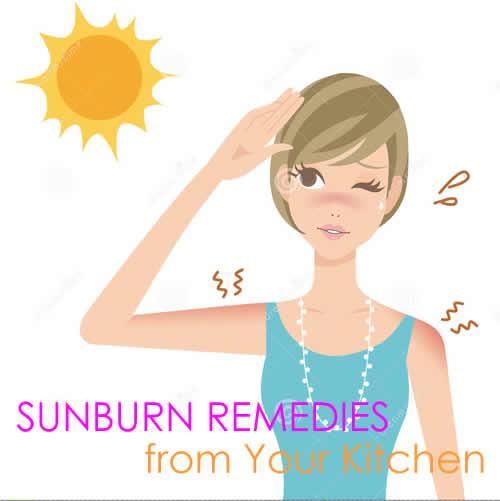 Sunburn Remedies from Your Kitchen
